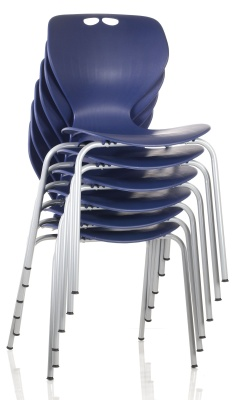 Matal Chair Royla Blue Stacked