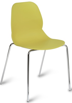 Mackie Chair In Mustard With Chrome Legs