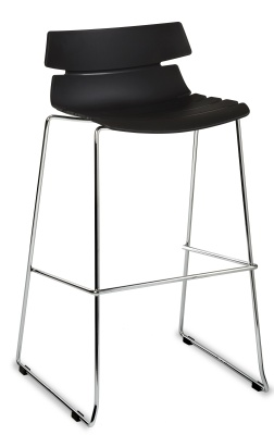 ;foxton Designer High Stool With A Black Seat