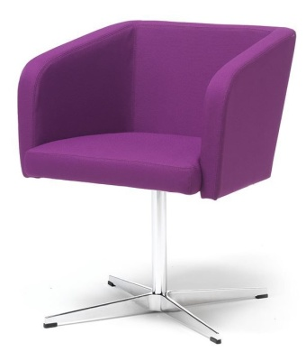Stra Tub Chair With A Four Star Base Purple Fabric
