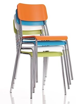 Kooler Coloured Bistro And Cafe Chairs