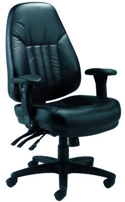 Panther Leather 24 Hour Task Chair