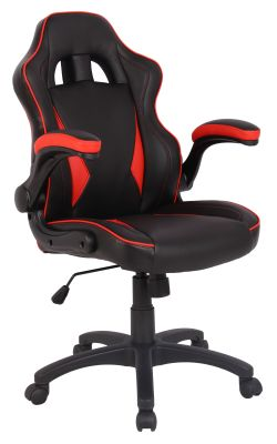 F1 Racer Chair With Red Inserts Angle View