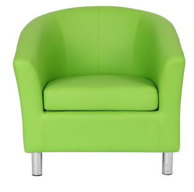Tritium Tub Chair In Lime Green Face View