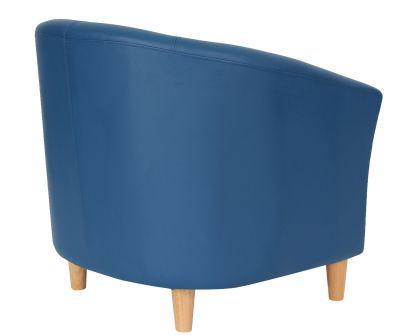 TRitium Navy Blue Tub Chairs Rear Angle