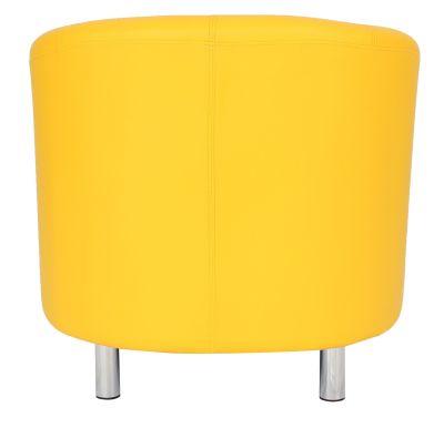 'tritium Tub Chair In Yellow With Chrome Feet Rear View