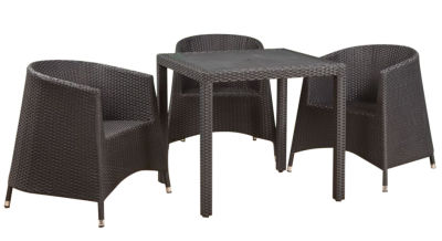 Susie Tub Chair Weave Dining Set - 2
