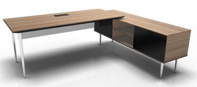 Longo Polished And Chestnut- Glass-Dark With Modesty Panel
