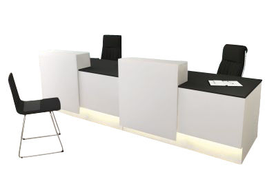 Cadiz Reception Desk With Sliding Counter Top