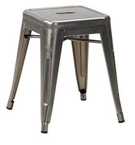 Tolix V2 Low Stool In Gun Metal