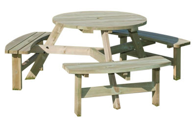 Dunster 6 Seater Outdoor Picnic Table