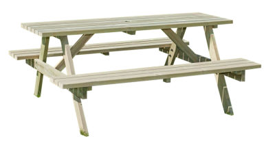 Exminster 6 Seater Outdoor Picnic Table
