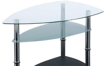 GCT Boat Shape Two Tier Coffee Table