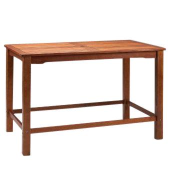Tiverton Outdoor Rectangular Wooden Bar Table