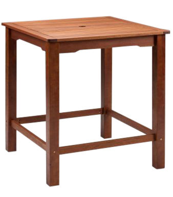 Tiverton Outdoor Wooden Square Bar Table