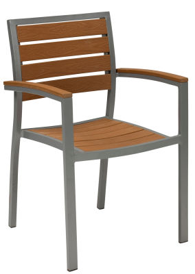 Vesu Artifical Teak And Aluminium Armchair