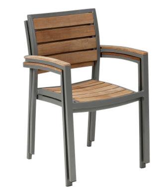 Vesu Outdoor Aluminium And Teak Armchair