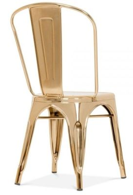 Xavier Pauchard Chair In Gold Rear Angle