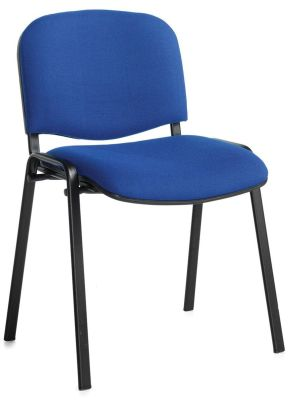 Stakka Conference Chair In Blue Fabric With A Black Frame