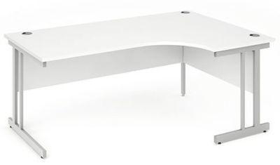 Revolution Right Hand Corner Desk In White