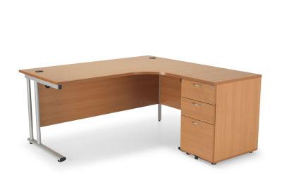 Flite Right Hand Office Desk And Pedestal Offer