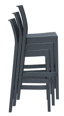 KOna Outdoor High Stool Shown Stacked