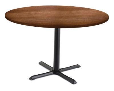 TB Large Circular Cafe Tables Walnut