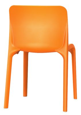Pop Chair In Orange Rear View