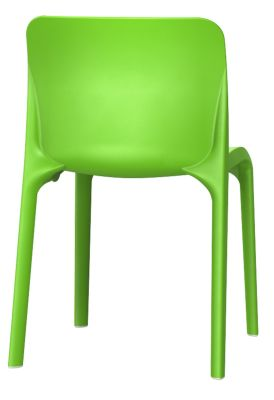 Pop Chair In Yelow Green Rear View