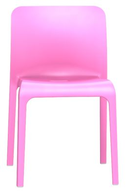 POp Chair In Light Pink Front View