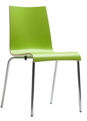 Star Designer Laminate Chair In Lime Green