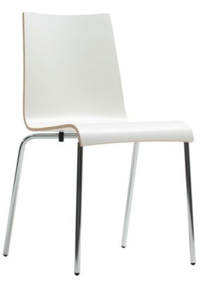 Star Laminate Designer Chair In White