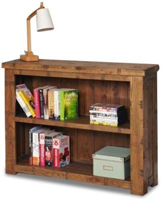 Hatfield Rough Sawn Low Bookcase