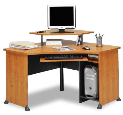 Jazz Corner Desk With Monitor Stand