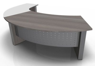 Direction Style Curved Desk And Glass Curved Return RH CD+G