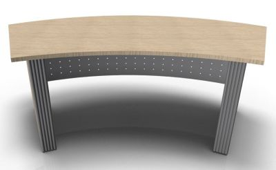 Direction Style Curved Desk Rear View WO