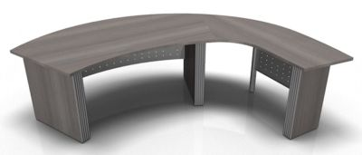 Direction Style Curved Desk And Curved Return Desk RH CD Rear View