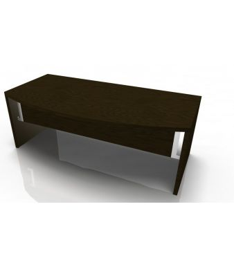 Tao Wooden Panel Bow Front Desk